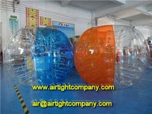 high quality half color or stripes inflatable bumper zorbs, zorbing football, bubble ball