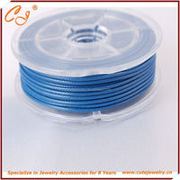 Korean Wax Cord 2.0mm 6 meter waxed round nylon cord in roll in Natural Blue