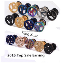 Summer hot sale round double side stainless steel stud earrings for boys