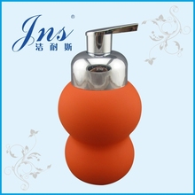 Modern Design Rubber Ceramic Orange Soap Dispenser