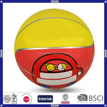 oem yellow rubber basketball