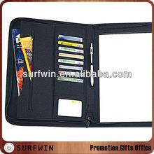 Leather zippered padfolio