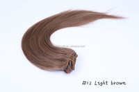 Remy human Clip in hair extensions 18inch/45cm #16 Strawberry blonde etc 19colors straight hair weaves 7pcs/set 70g/set