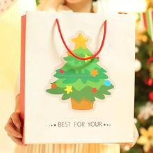 christmas tree printing small christmas paper bag for gifts