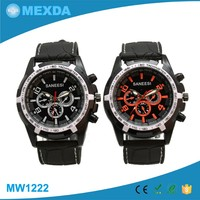Custom logo japan movt 3bar water proof silicone rubber watch