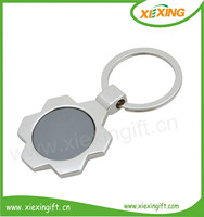 Hot sale Cheap wholesale custom 3D blank metal promotional keychain