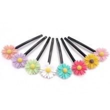 Kids type wholesale cheap 60mm cute resin daisy hair barrette for girls