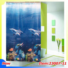 Plain bathroom shower curtain