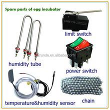 incubadora de piezas de repuesto para la incubadora del huevo