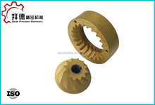 cnc machined pump bronze gears/pump bronze gear cnc machining/precision turning service for bronze