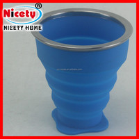 Food Use Collapsible Candy Colors Travel Silicone coffee cup
