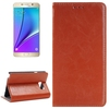 OEM Service Crystal Texture Genuine Leather Phone Cover for Samsung Galaxy Note 5 with Card Slot