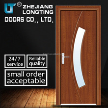 Interior PVC Door, Wood Door With Glass Inserts With Glass LTP-6007