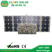 high efficiency sunpower 130W foldable solar panel module for drone UAV and military