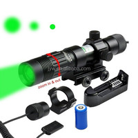 Tactical Hunting Rifle adjustable Green Laser Dot Sight Scope Adjustable w/ Mounts box set