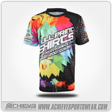 all over printed custom t shirts with polyester