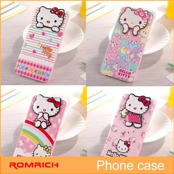 Hello kitty flip leather case for iphone 6 plus