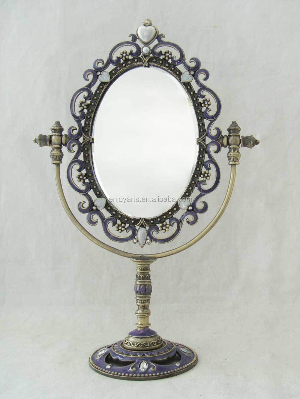 Mooie Ontwerp Antiek Zilver Wit Emaille Grote Ovale Tafel Top ...