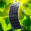130W Monocrystalline Flexible Solar Panel for caravans golf cars boats with A grade solar cell