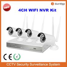 4ch NVR KIT 720P Wireless outdoor IP Camera P2P Surveillance system 4ch WIFI NVR kit