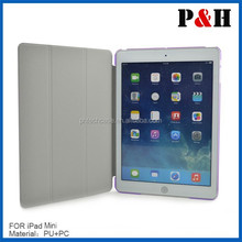 Creative Transformer PU smart cover leather case for Ipad mini