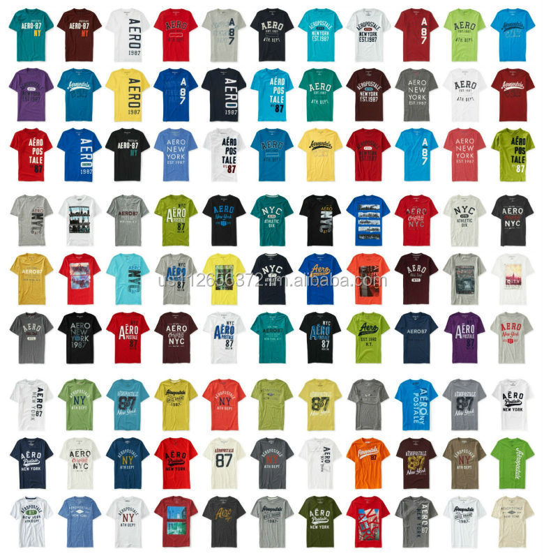 Aeropostale men 39 s graphic and embroided t shirts for T shirt tags wholesale