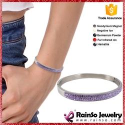 China Supplier Energy bracelet with crystal capital letter e