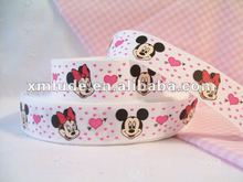 2012 hot sale mickey mouse printed grosgrain ribbon