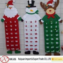 Distinctive Santa Cluase felt advent calendar for Christmas home decoration