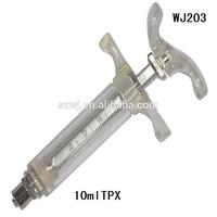 WJ203 TPX plastic steel syringe hub suited for luer lock fittings
