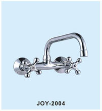 wall Moulted TWO CROSS HANDLE Brass/ZINC Kitchen Faucet