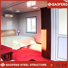 High quality decorated movable hotel container house accommodation
