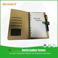 Venta caliente logotipo personalizado organizador de cuero planificador, personalizado planificador semanal