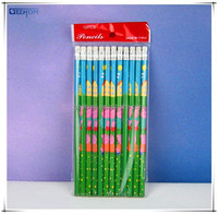 school supplies writing instruments cartoon wooden pencil with eraser top