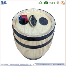 Shuanglong new unfinished cheap antique wooden standing ice buckets for beer