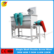 Low dust small animal feed mixer for pig feed plant