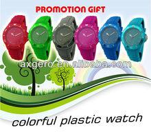 colorful design plastic wholesale cheap watch