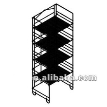 4 Tier Folding Metal Wire Beverage Display Shelf with Sign Holder RM