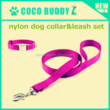 2015 braided rope dog leash nylon webbing metal hook custom size color label pet dog products supplier from yiwu