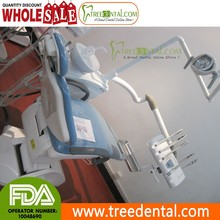 TR-K916 Top mounted Dental Chair Unit with Full Casting Aluminum Base & Backrest, FDA & CE approved,branding machines