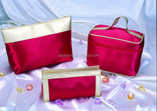 2015 New Red Zipper Bag Cosmetic for Fashion Women Girl Ladies Wholesale