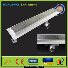 15 YEARS GURANTEE INVISIBLE shower drain HOT SALES SS304 floor drain for European market BRUSHED FACE WITH HIGH QUALITY