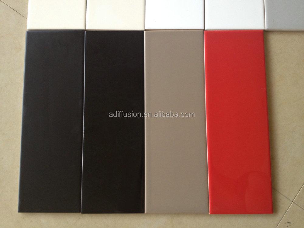 Cheap cramique carreaux de mtro chantillon x cm x polegada for Carrelage metro noir mat