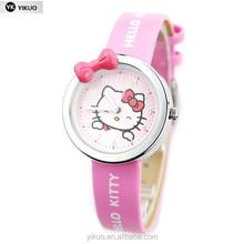 Korean children's cartoon hello kitty watches for girls students watch waterproof, lovely hello Kitty watches