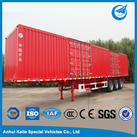 Used cargo box semi trailer truck on sale