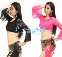 SWEGAL wholesale long sleeve belly dance lace top