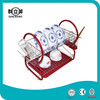 Multi-function Red Wire Dish Drainer With Plastic Chopstick Holder