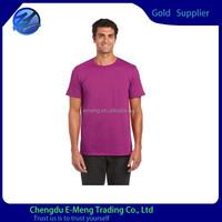 Plain Style Men's Short Sleeve Body Fit 100 Percent Cotton T shirts