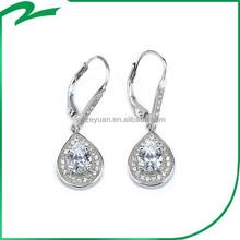 2015 promotional 925 silver Zircon four claw angel tear earring