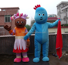 Iggle piggle y upsy daisy mascota disfraces para adultos